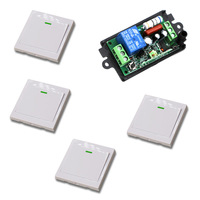 RF Wireless Switch Remote Control Switch Radio Controller Light Switch 110V 220V 10A 1CH Receiver Wall