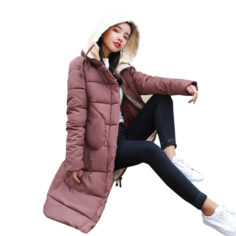 f3d3b57e142 fashion women winter women s wear cotton Korean fashion long hat down parka  women 8618