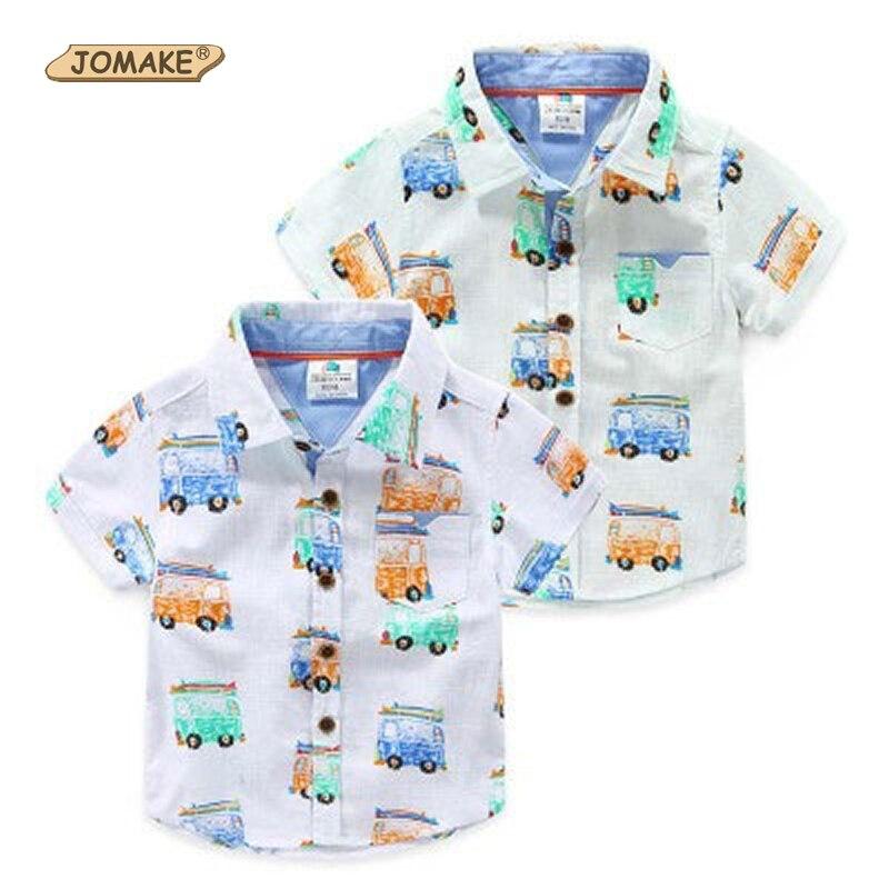 Meninos Camisas 2017 Verão Novo Roupa das Crianças Impressão Dos Desenhos  Animados Do Carro Do Bebê Camisa Do Menino Moda Marca Designer Casual Roupa  Dos ... 322dc2b14be62