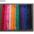 13 Color 100*4cm Handle Bag Decoration Silk Scarf Solid Color Women Hair Band Clothing Accessories Hair Headband SJ157297