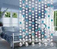 On sale!!! Wholesale 10strip of 1.2 meter Crystal strands / Octagon bead strands For Crystal glass Chandelier Hanging Decoration