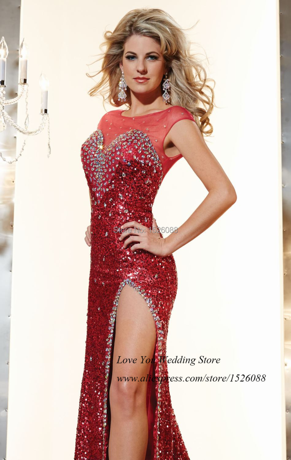 Bling Red Prom Dresses 2014