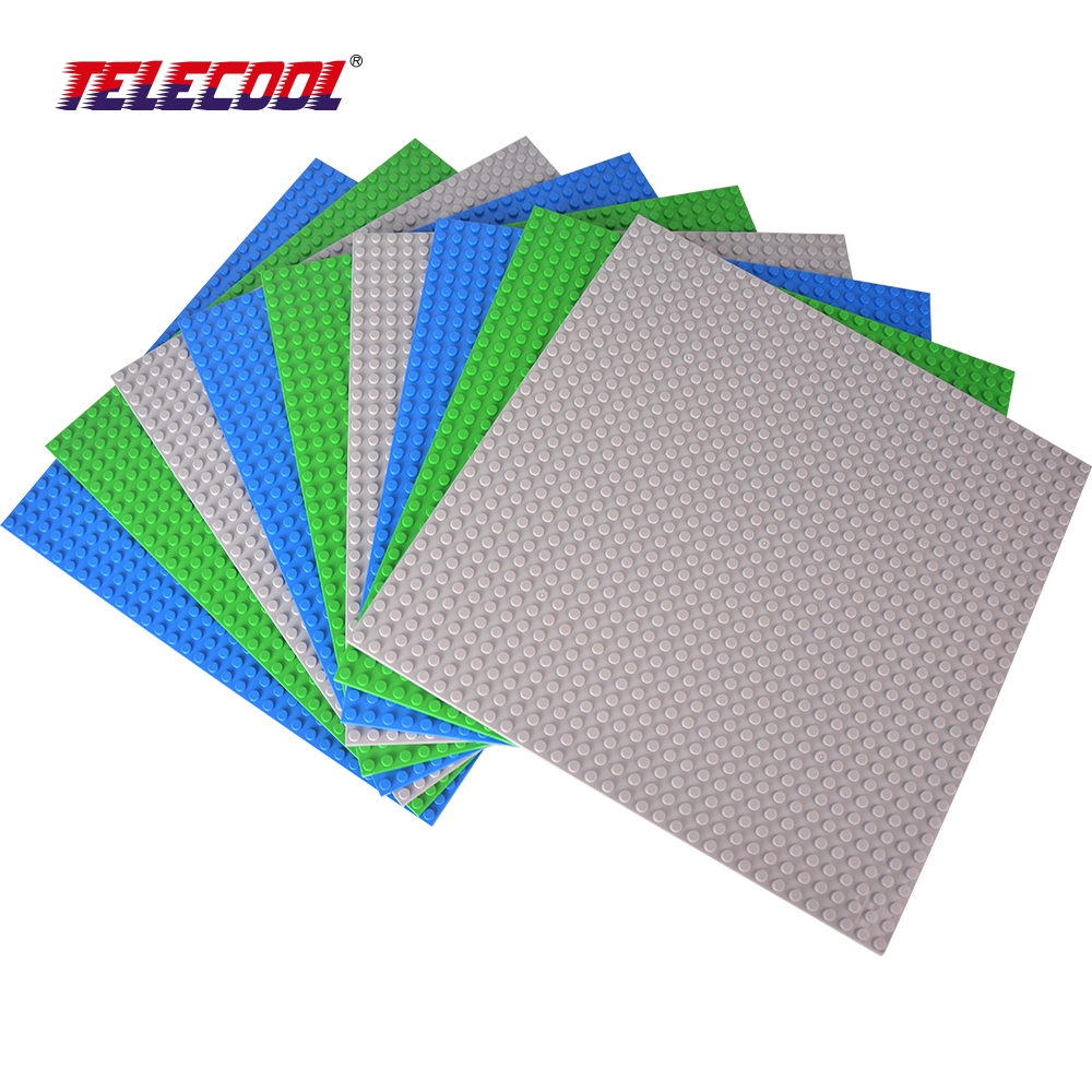 TELECOOL Small Bricks Baseplates Dots Base Plate 9 PCS Size 25.5cm*25.5cm DIY Building Blocks Bricks Toys Compatible with Lepin new big size 40 40cm blocks diy baseplate 50 50 dots diy small bricks building blocks base plate green grey blue