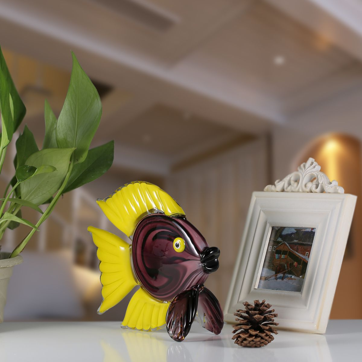 Tooarts Κίτρινο Τροπικό Υλικό ειδών - Διακόσμηση σπιτιού - Φωτογραφία 6