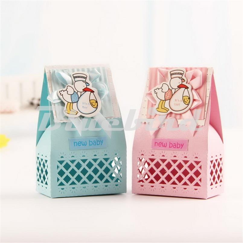12Pcs Baby Shower Favors Decorations Paper Candy Box Birthday Party  Decorations Kids Baby Shower Goodie Bag