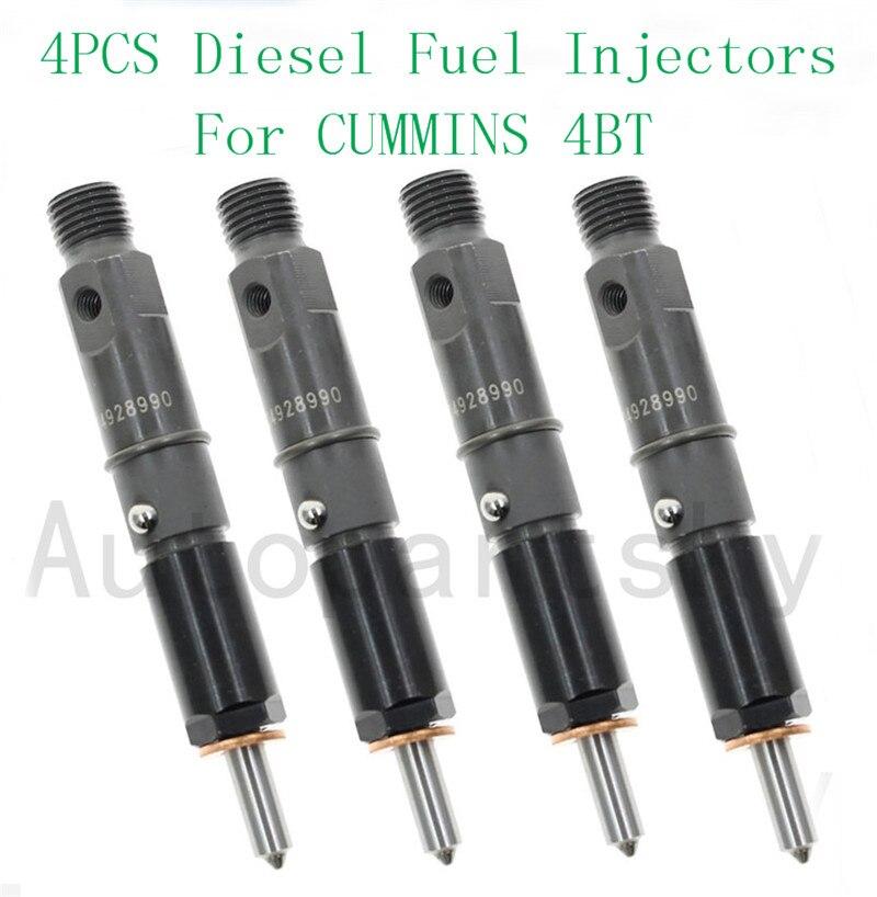 Cummins 4bt 엔진 연료 제어 디젤 연료 인젝터 부품 #4928990 390kal59p6 용 4 x 고품질 수리 부품 교체