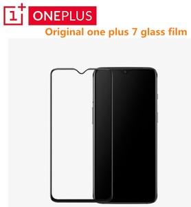 Image 1 - Originele Oneplus 7 Glas 3D Volledige Cover Gehard Glas Screen Pprotector Voor Een Plus 6T Oneplus 7 Volledige Dekking beschermende Film