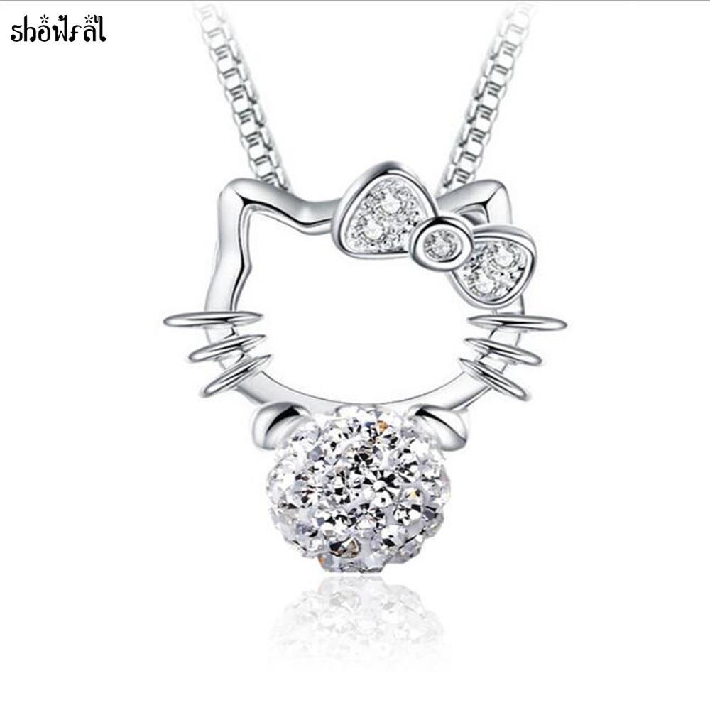 Crystals From Swarovski Fashion Hello Kitty Necklace Cat