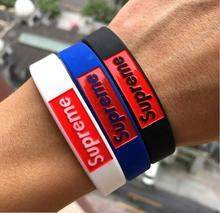4pcs/lot supreme Bracelets model 4 color sports Silicone Bracelet model Party Favors gifts MC wristband bangle rope toys