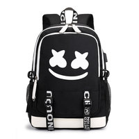 Noctilucent DJ Audio Youth High School Student Bag Male Backpack