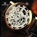 2016 NUEVOS Mens Relojes de Oro Skeleton Hombres Reloj Luminoso de Pulsera Hombre Reloj de Cuarzo Reloj de Pulsera de Cuarzo-reloj kol erkek saati