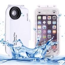 Para el iphone 7 Más Caso A Prueba de Agua Bajo El Agua 40 m Buceo Impermeable carcasa PC + ABS Estuche protector Para el iphone 6 s Plus 7 Coque