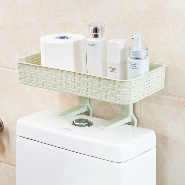 Merveilleux Free Punch Bathroom Rack Wall Hanging Bathroom Supplies Suction Wall Toilet  Plastic Storage Rack Bathroom Organizer