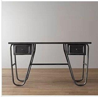 American iron francese paese tavola loft ferro legno for Scrivania stile industriale