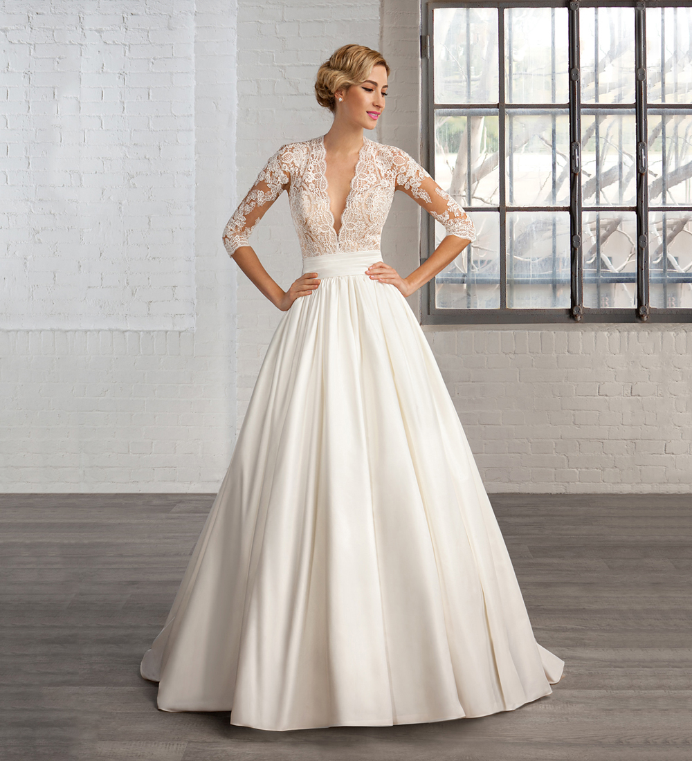 Compare Prices on Deep V Neck Wedding Dresses- Online Shopping/Buy ...