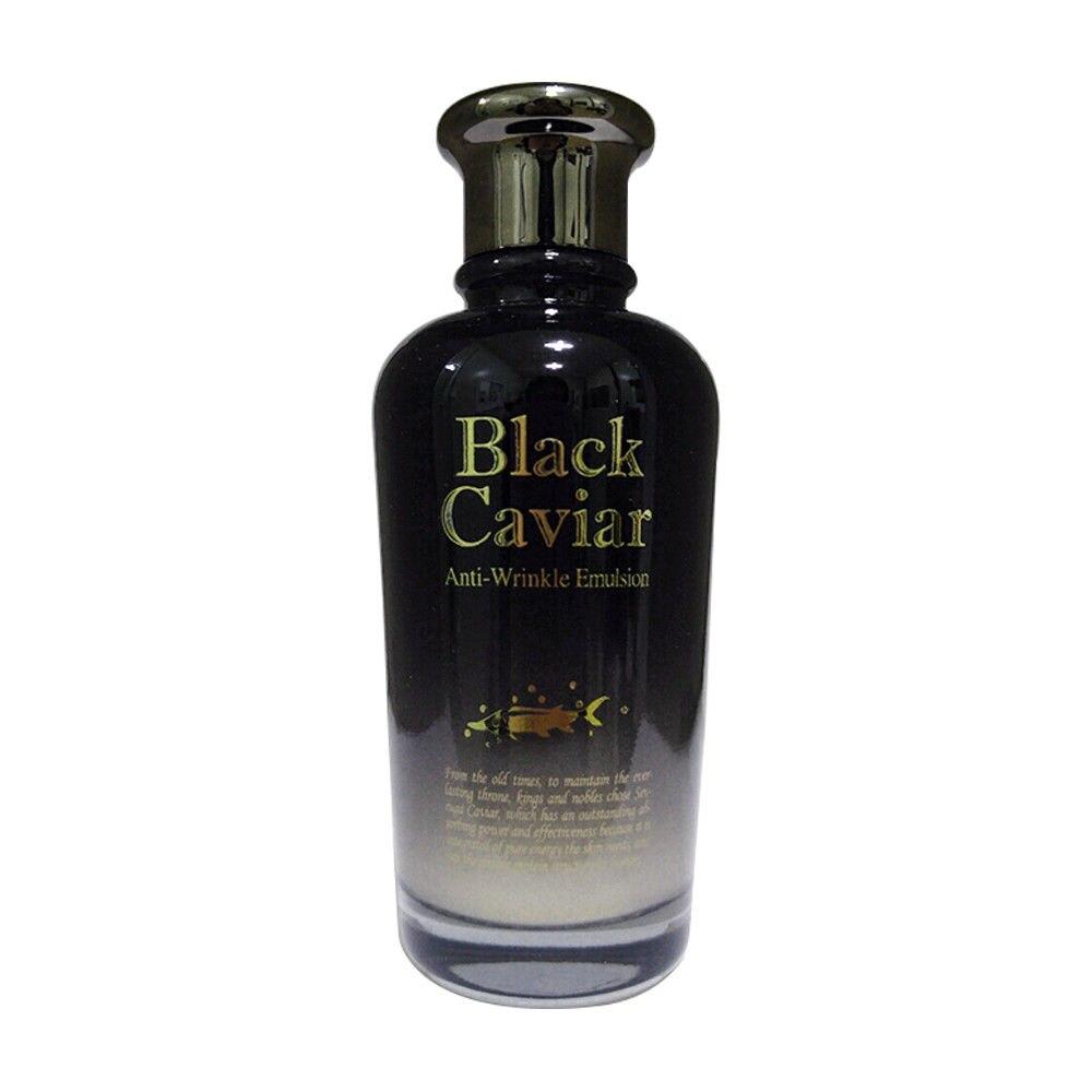 HOLIKA HOLIKA Noir Caviar Anti-Rides Émulsion 120 ml Nourrissant Crème Pour Le Visage Anti Rides Du Visage Émulsion Soins de La Peau Blanchissant