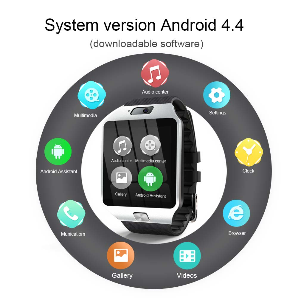torntisc qw09 unisex 3g smart watch for android phone with wifi real-pedometer and calling benefit