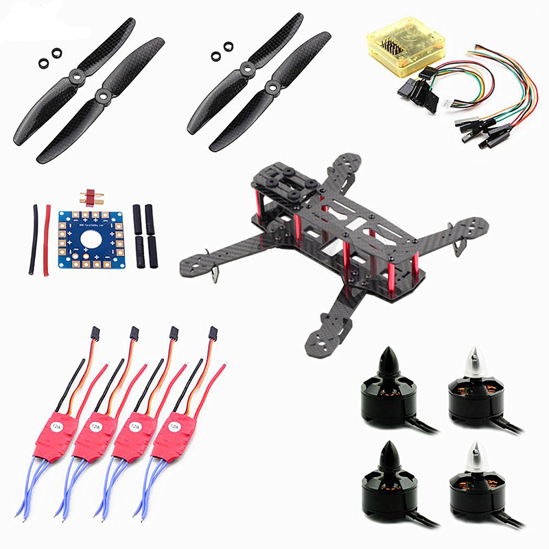 Tarot 4mm Arm QAV250 CF FPV Mini Quadcopter CC3D Flight Controller 1806 Motor Simonk 12A ESC 5030 Carbon Fiber Propeller diy fpv mini drone qav210 zmr210 race quadcopter full carbon frame kit naze32 emax 2204ii kv2300 motor bl12a esc run with 4s