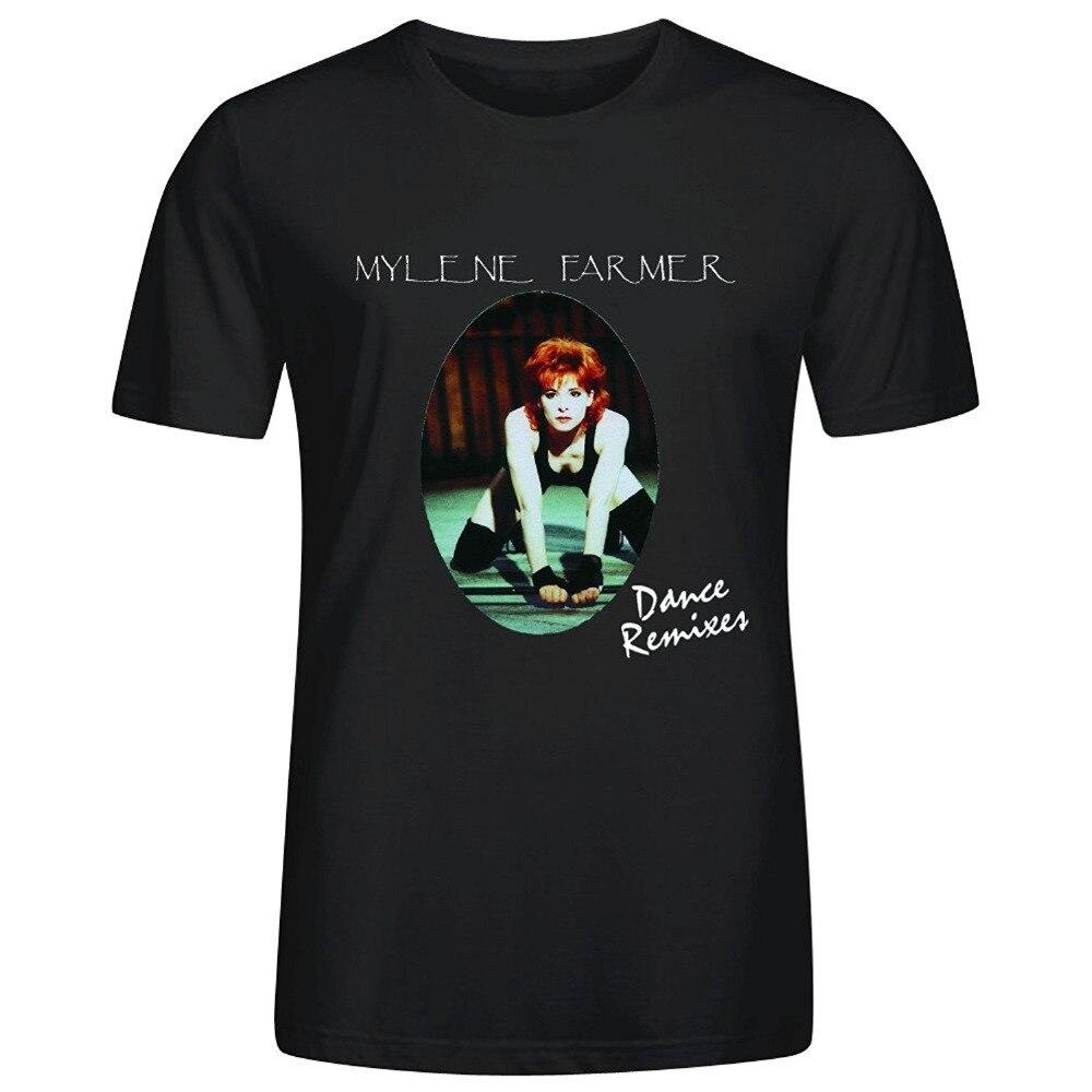 Милен Фармер танец ремиксы Для мужчин О-Средства ухода за кожей Шеи хлопковая Футболка shirtfashion Для мужчин и женщина футболка Бесплатная ...