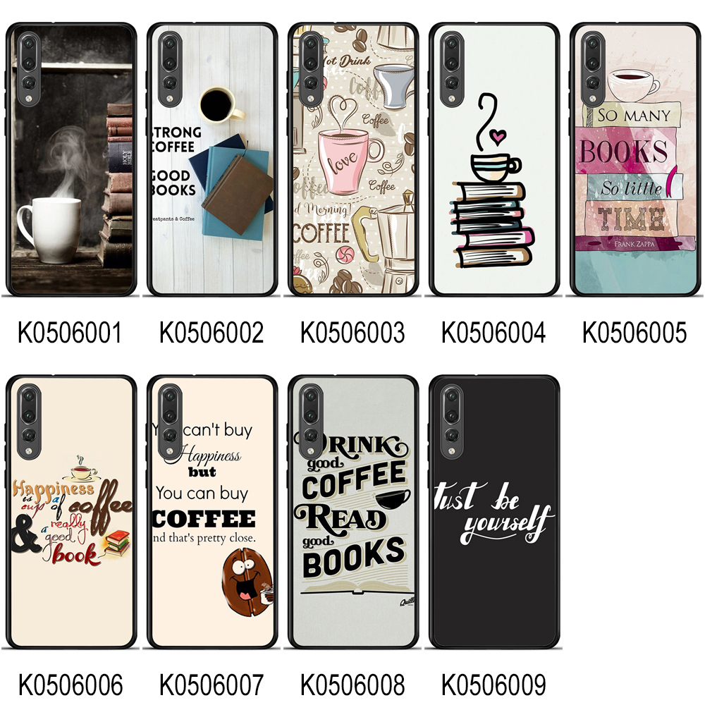 Print TPU Cover for Huawei P20 case Protective Coffee Time Soft Silicone TPU for Huawei P20 All Phone Model Back Shell image