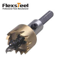 Flexsteel 16MM Adjustable 9341 HSS Circle Cutter Twist Hole Saw Drill Bit with Mandrel for Woodworking Power Tools