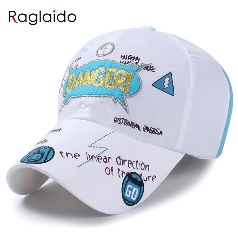 Prix pour Raglaido 8 couleurs Maille Casquette de baseball Chapeau Bébé Filles Garçons Sport En Plein Air Caps Brodé Étanche À Séchage Rapide Soleil Chapeaux LQJ01133