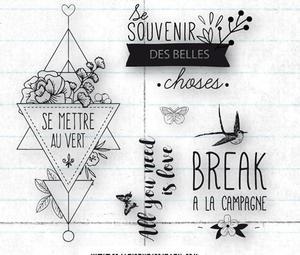 Image 1 - Franse Transparant Clear Stempel voor DIY scrapbooking/Card Making C386