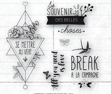Sello transparente francés para scrapbooking/Creación de tarjetas, C386
