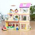 Kits de construção do modelo de montagem diy brinquedos meninas pequenas figuras de construção do carro presente educacional para crianças blocos de construção de casas
