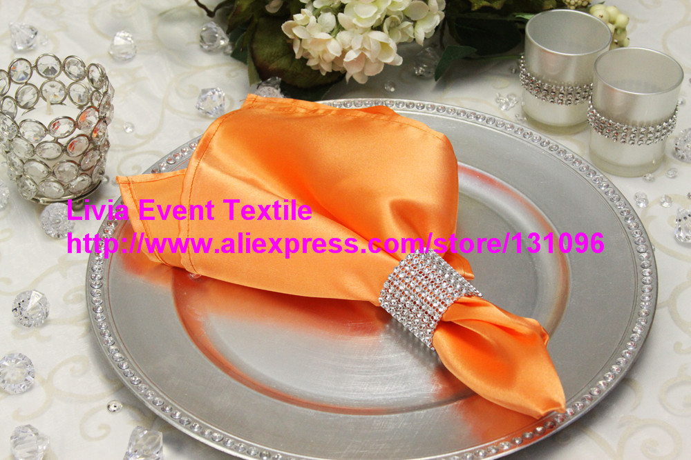 100pcs #29 Orange Napkin 45x45cm ,Table Napkin For Weddings Events &Party&Restaurant &Hotel