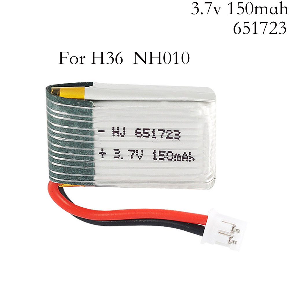 3.7v <font><b>150mah</b></font> 30C For H36 F36 NH010 E010 E010C E011 E013 <font><b>Battery</b></font> RC Quadcopter Spare parts <font><b>3.7</b></font> <font><b>v</b></font> <font><b>150mah</b></font> lipo <font><b>Battery</b></font> 1pcs image