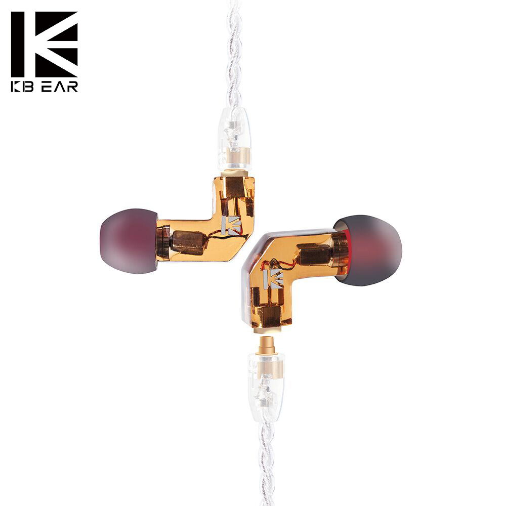 KB EAR F1 Balanced Armature In Ear Earphone Running Sport Technology HIFI  Headset With 3.5mm MMCX Earbud