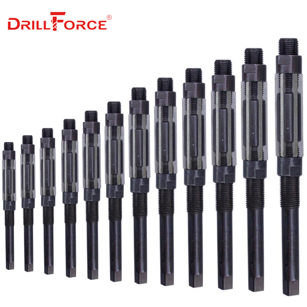 1PC Adjustable Hand Reamer HSS Size Range Alloy Steel Reamer Hand Reamer Machine Cutting Tools (10/12/15/17/19/20/21/23/25/26mm)