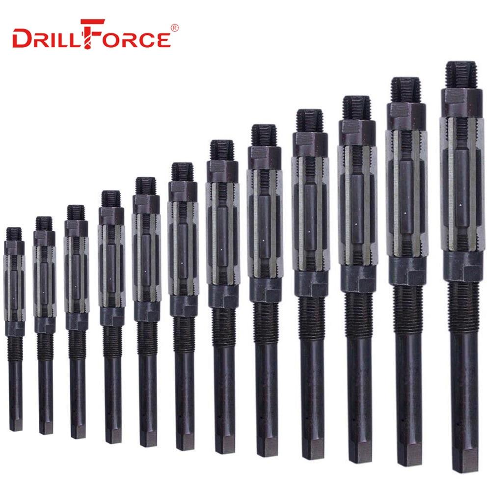 1PC Adjustable Hand Reamer HSS Size Range Alloy Steel Reamer Hand Reamer Machine Cutting Tools (10/12/15/17/19/20/21/23/25/26mm)