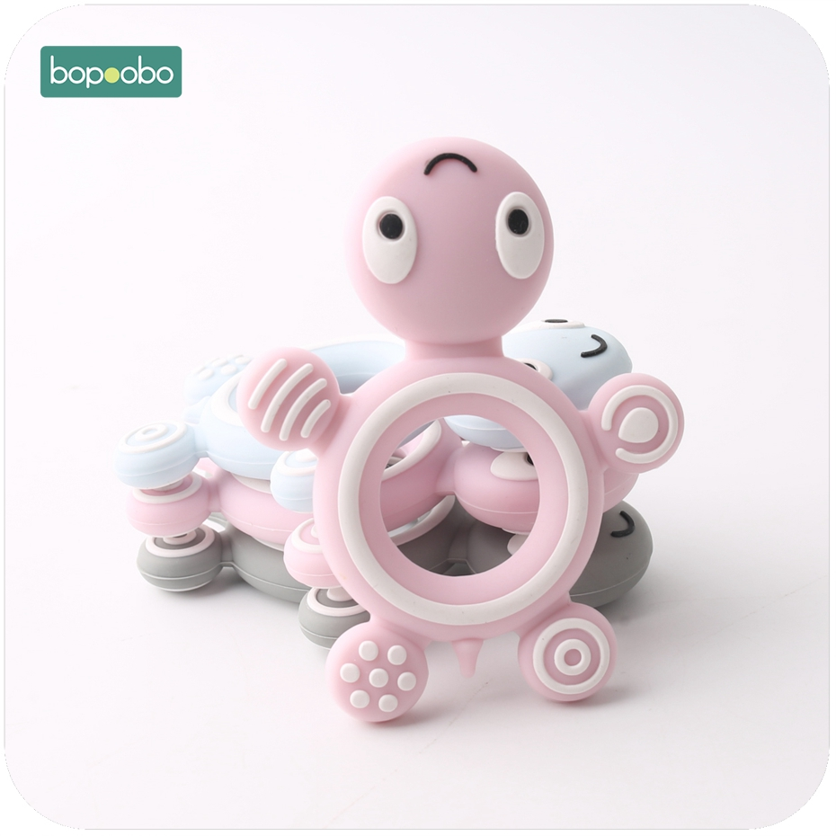 Bopoobo 1 PC Nursing Accessories Chewing Silicone Lovely Turtle Teethers DIY Nursing Jewelry Teething Accessories Baby Teether