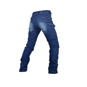 Image 5 - Jeans Mannen 2020 Cargo Elastische Taille Jean Broek Hoge Kwaliteit Klaring Tactische Denim Multi Pocket Man Broek Cargo Jeans Mannen