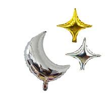 1Pc 18Inch Verjaardag Ballon Crescent Moon Ballon Aluminium Folie Ballonnen Voor Bruiloft Verjaardag Decoratie Eid Mubarak Gift