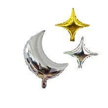 1pc 18 インチの誕生日パーティーバルーン三日月バルーンアルミ箔バルーン結婚式誕生日装飾イードムバラクギフト