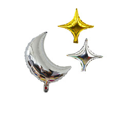 1pc 18inch Birthday Party Balloon Crescent Moon Balloon Aluminum Foil Balloons for Wedding Birthday Decoration EID MUBARAK Gift