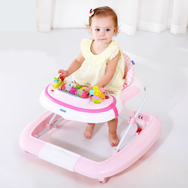 Hot Selling Baby Children Walker Rollover Prevention Baby Toddler Car Multifunctional Music Plate Rocking Horse Walker Foldable