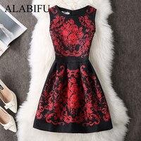 5e00d109dbd ALABIFU Summer Dress Women 2019 Sexy Casual Floral Dress Vintage Sleveeless Party  Dresses Plus Size Black