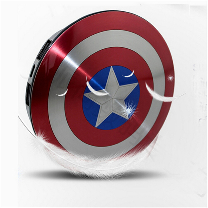 e28cbd5d1c9697 2016 Avengers Captain America Shield Power Bank Charger USB 6800mAh for all  mobile phone-in Power Bank from Phones & Telecommunications