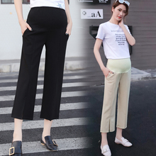d78baf5c97a925 Hot Selling 2019 Spring Summer Pregnant Women Wide-legged Abdomen Trousers  Office Lady Work Pants