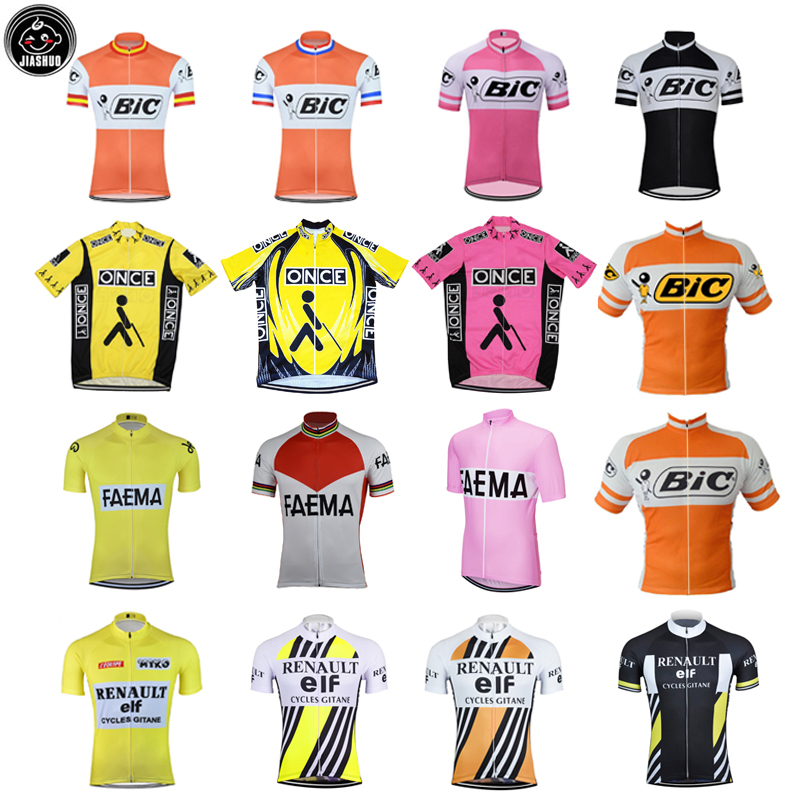 Retro Classical Pro RACE Team Bike Cycling Jersey Tops Breathable Customized Jiashuo