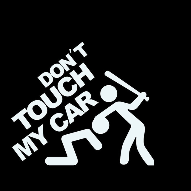 Aliexpresscom  Buy New White Dont Touch My Car Funny Vinyl - Vinyl decals for my car