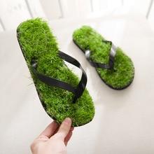 купить Summer Sandals Men Outdoor Flat Flip Flops for Women Beach Sandals Slippers Couples Fashion Lawn Style Comfortable Flip-flops по цене 609.14 рублей