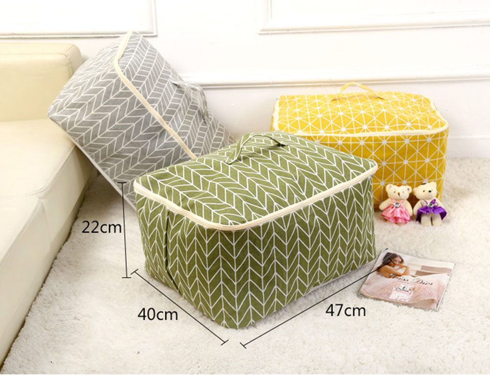 New Non-woven Portable Clothes Storage Bag Organizer 45.54022cm Folding Closet Organizer For Pillow Quilt Blanket Bedding Case (17)