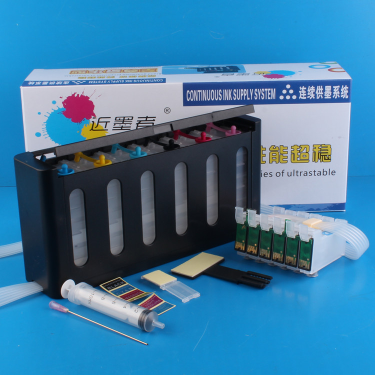 Continuous Ink Supply System Universal 6Color CISS kit with accessaries ink tank for EP-801A 802A 803A 803AW 702A 703A IC50