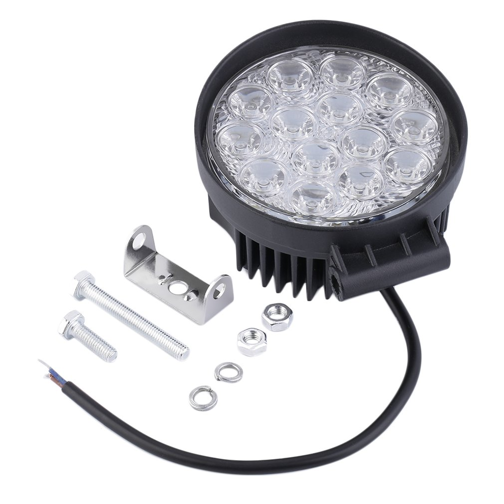 LED Work Light Waterproof 42W Off Road Spot  Flood Light Round LED Lamp for Car Truck Vehicle ATV Boat