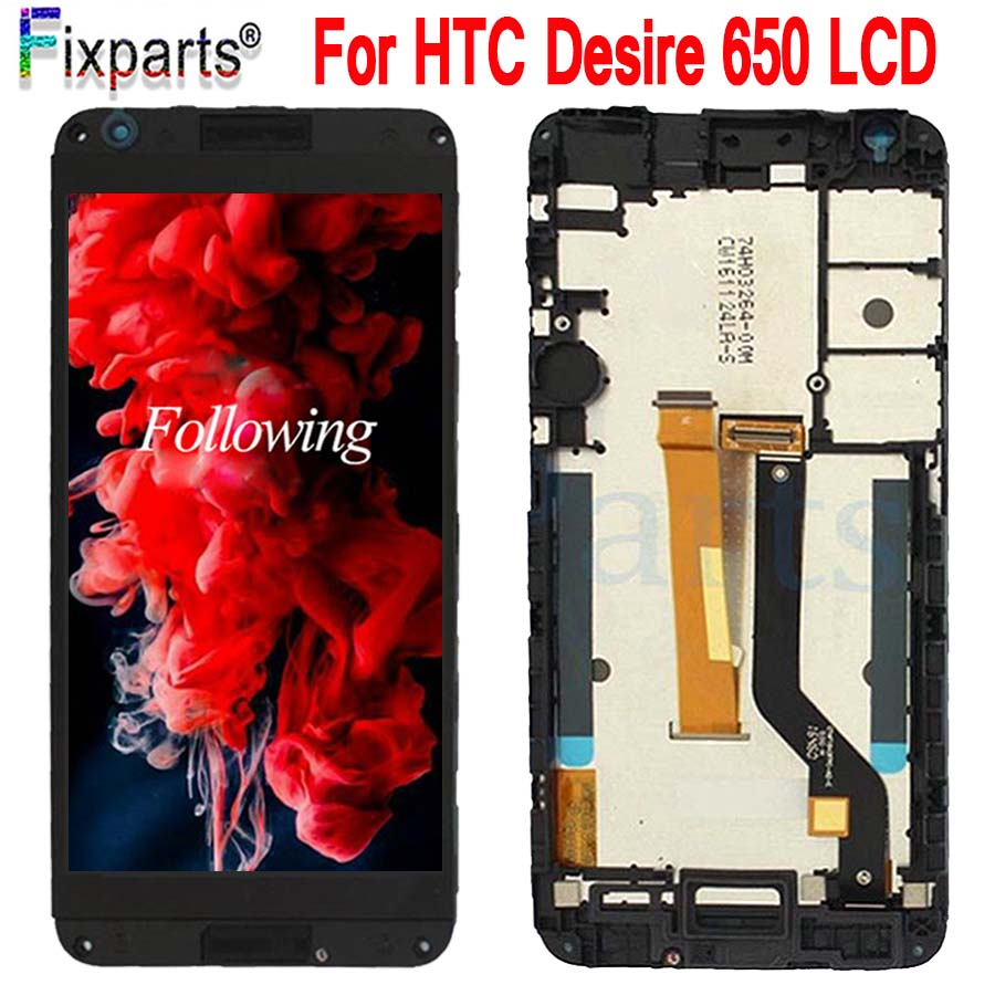 For HTC Desire 650 LCD Display Touch Screen Digitizer Assembly Mobile Phone Replacement Repair Parts 5.0 For HTC Desire 650 LCD (2)